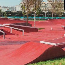 Скейт парк в Краснодаре (у стадиона ФК Краснодар)