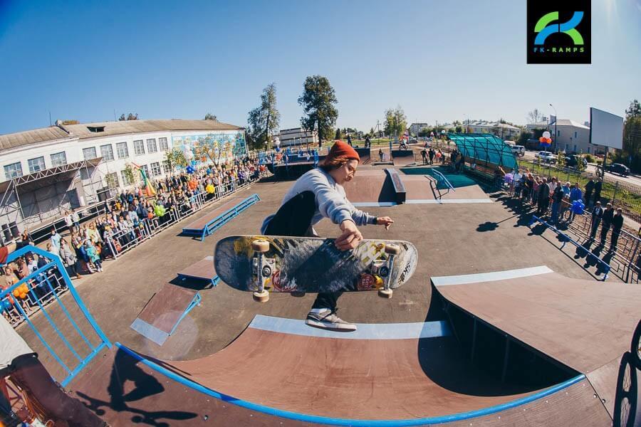 Металлический скейт-парк в Первомайске