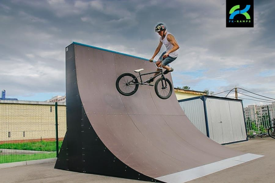 Деревянный скейт парк в Сарове