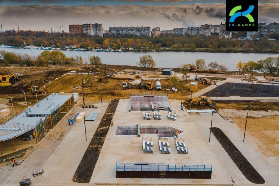 Анонс монтажа скейтпарка в Братеевской пойме