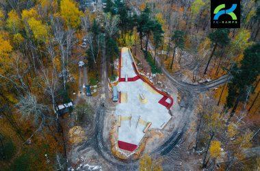 Визуализация бетонного скейтпарка в Балашихе