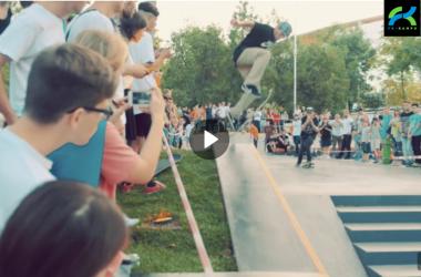 Открытие бетонного скейтпарка в Одессе
