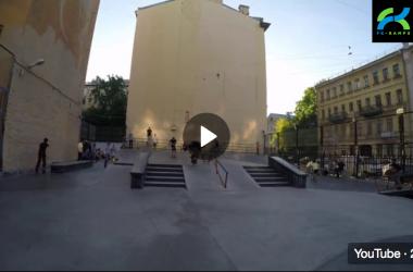 Обзор первого бетонного скейтпарка Петербурга