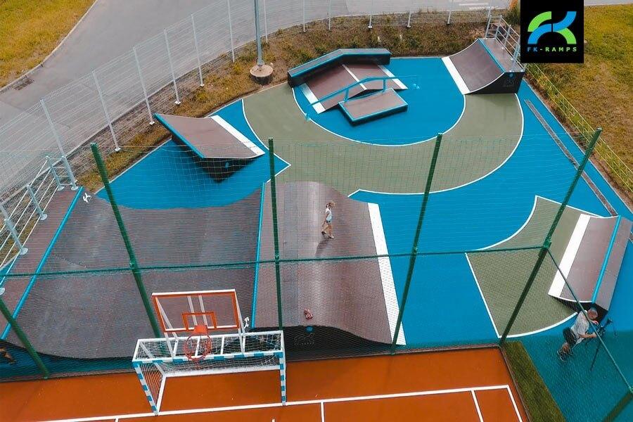 Деревянный скейт парк в Тольятти