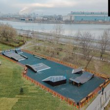 Cкейт парк на Нагатинской набережной, Москва - FK-ramps