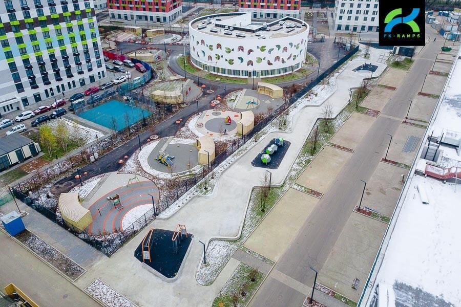 Бетонный скейт-парк на Варшавском шоссе