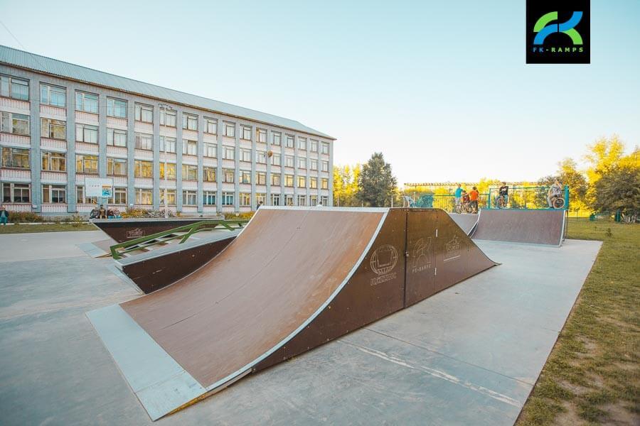 Металлический скейт парк в Усть-Каменогорске