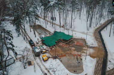 Бетонный скейтпарк в Балашихе: строительство