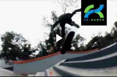 Видео из нового скейт парка в Одессе