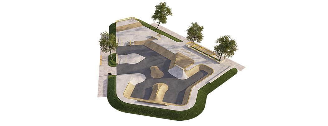 Проект бетонного скейт парка Б-03 от FK-ramps