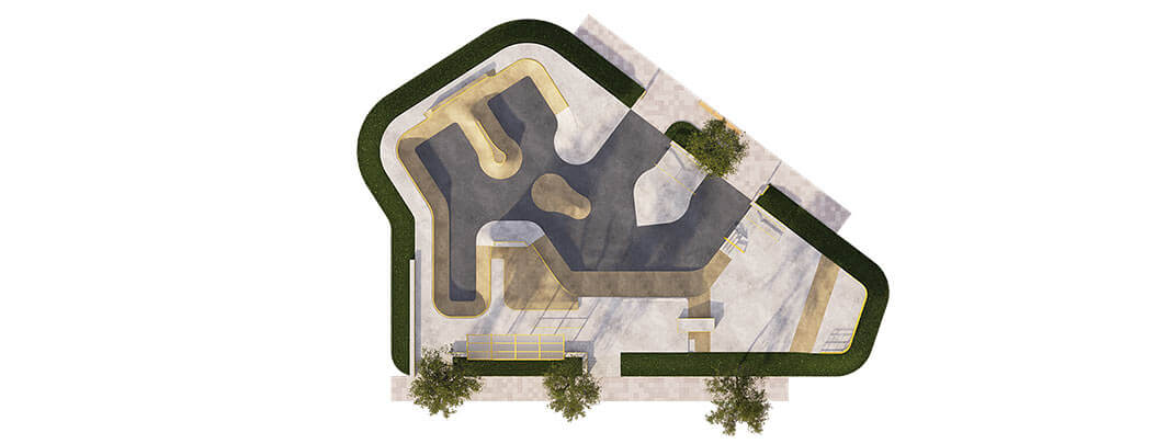 План бетонного скейт парка Б-03 от FK-ramps