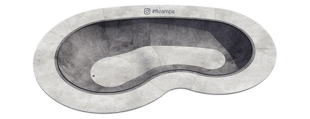 Макет скейт парка из бетона Б-01 от FK-ramps
