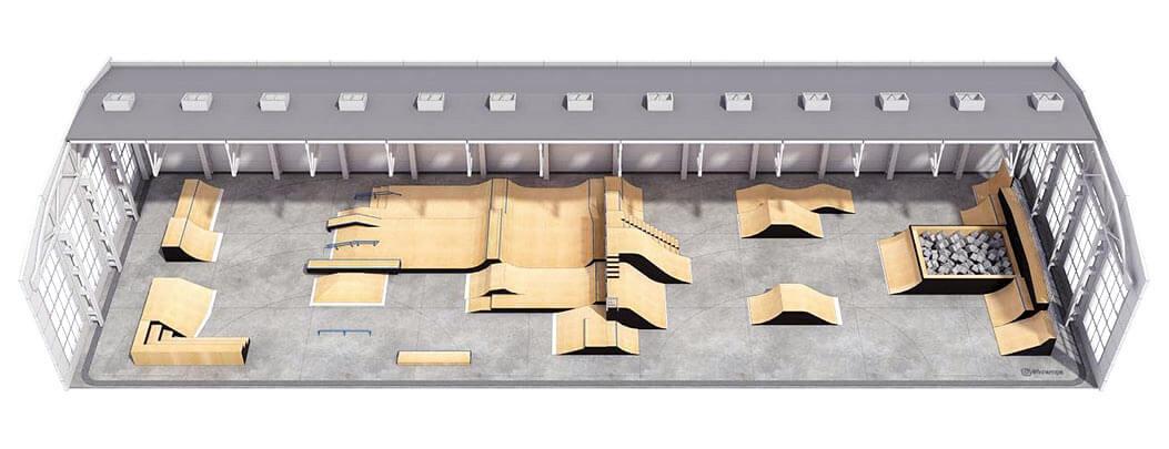 Крытый скейт парк КР-02 - FK-ramps