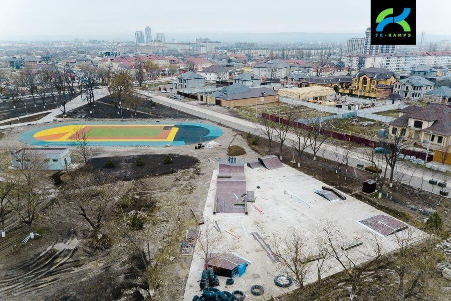 Первый скейтпарк Чечни