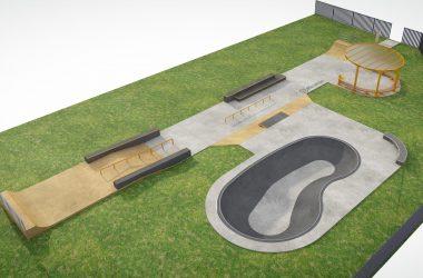 Новый бетонный скейтпарк в Петербурге