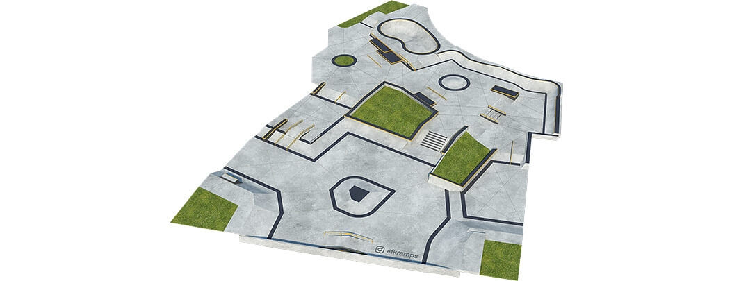 План бетонного скейт парка Б-06 от FK-ramps