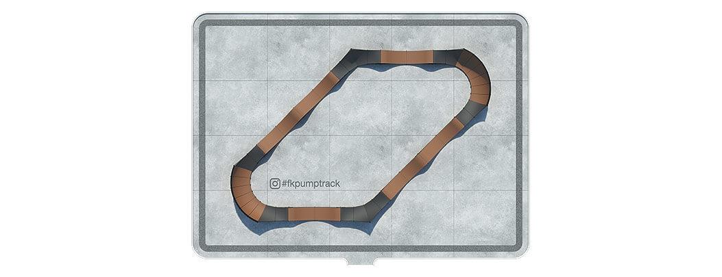памптрек план вид сверху top view pumptrack fk-ramps fkpumptrack