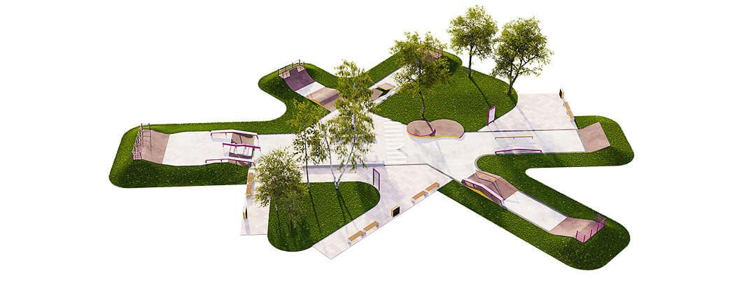 Проект бетонного скейт парка Б-08 от FK-ramps
