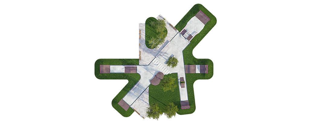 План бетонного скейт парка Б-08 от FK-ramps
