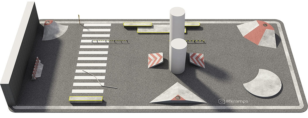 Проект бетонного скейт парка под мостом Б-02 от FK-ramps