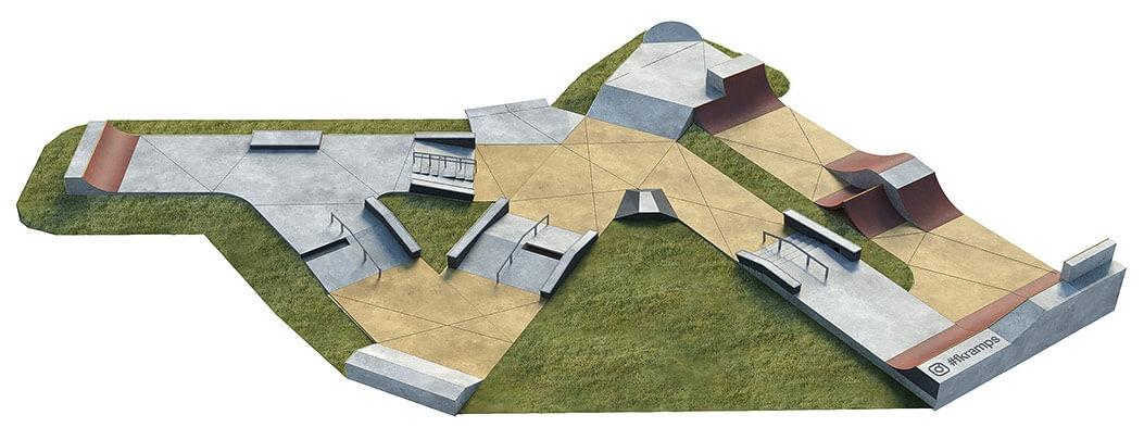 Проект бетонного скейт парка Б-07 от FK-ramps