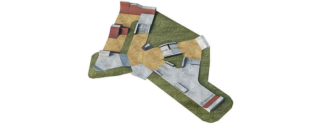 План бетонного скейт парка Б-07 от FK-ramps