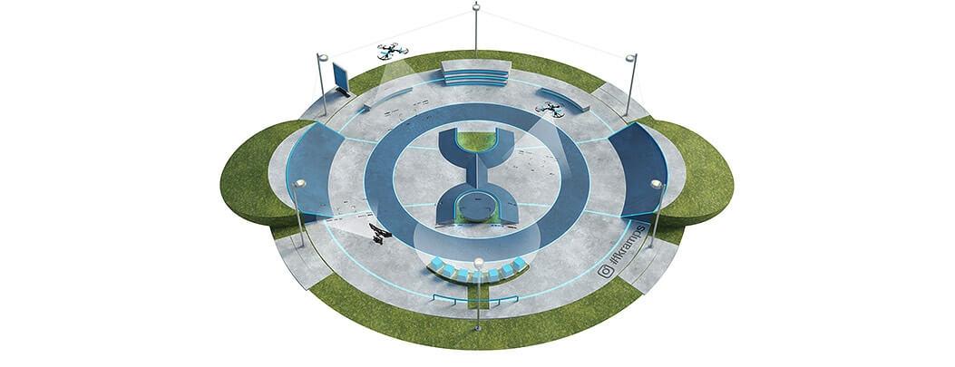 Проект бетонного скейт парка Б-05 от FK-ramps