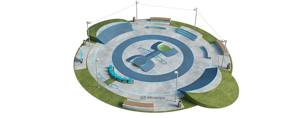 План бетонного скейт парка Б-05 от FK-ramps