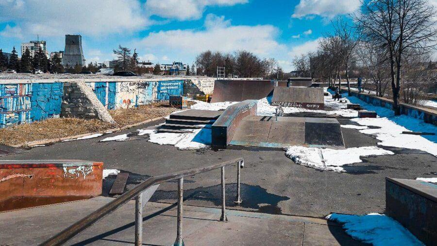 Реконструкция скейт парка в Челябинске