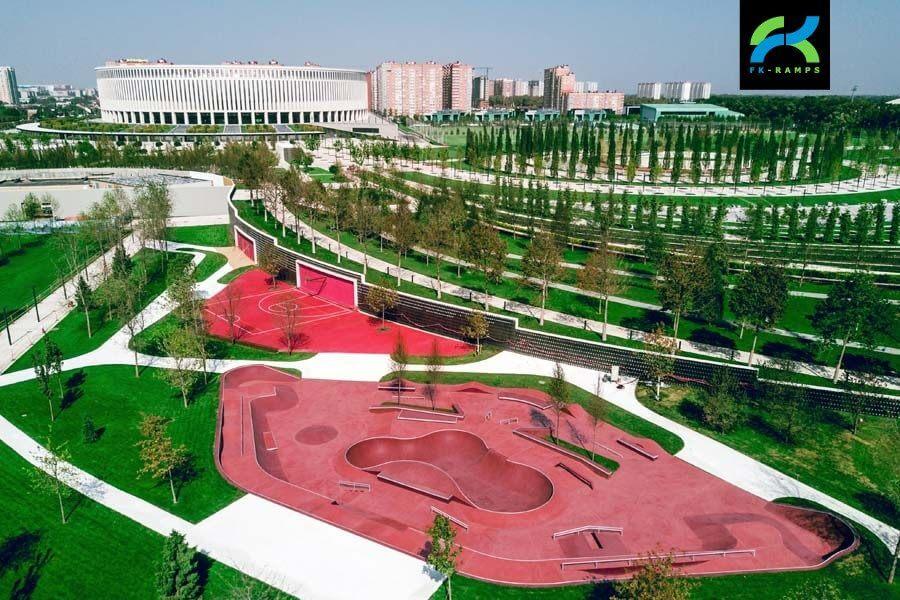 Благоустройство скейт парка от FK-ramps