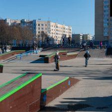Деревянный скейт парк в Киришах - FK-ramps