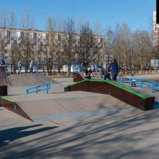 Деревянный скейтпарк в Киришах