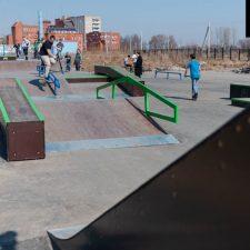Деревянный скейтпарк в Великом Новгороде