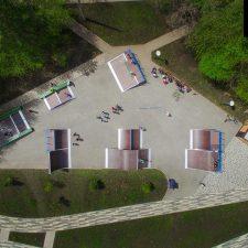 Деревянный скейт парк в Кемерово на бульваре Строителей - FK-ramps