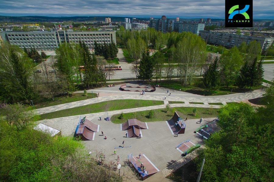 Деревянный скейт парк в Кемерово