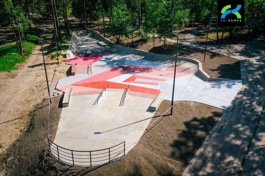 Бетонный скейт парк в Балашихе