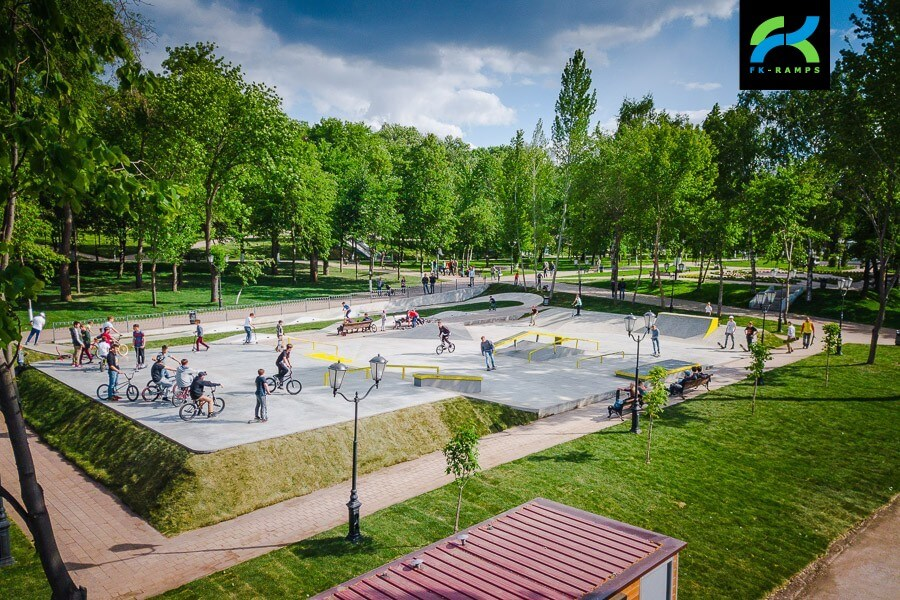 Бетонный скейт парк в Самаре