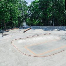 Бетонный скейт парк на Удальцова в Москве, в парке 50-летия Октября - FK-ramps