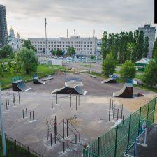 Скейт парк в Нижнем Новгороде в парке 777-летия города (Дворовая улица) - FK-ramps