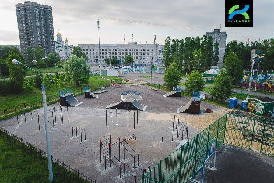 Деревянный скейт парк в Нижнем Новгороде