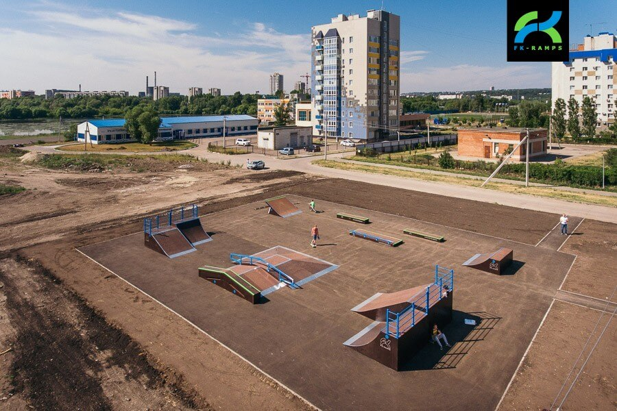 Деревянный скейт парк в Ульяновске