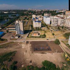 Деревянный скейт парк в Ульяновске в студенческом городке - FK-ramps
