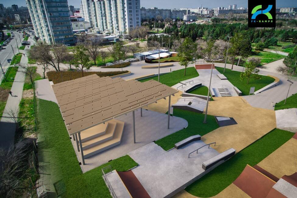 Проект бетонного скейт парка в Севастополе