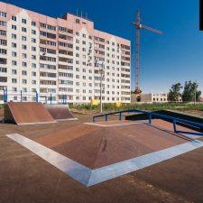 Деревянный скейтпарк в Ульяновске