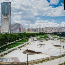 Скейт парк на Ходынском поле в Москве, метро ЦСКА от FK-ramps
