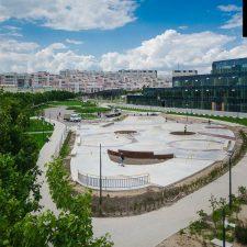 Бетонный скейт парк на Ходынском поле в Москве, метро ЦСКА - FK-ramps