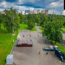 Деревянный скейт парк Митино в Москве - FK-ramps