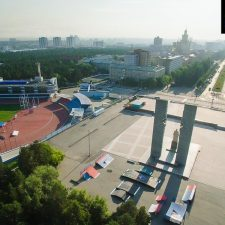Каркасный скейт парк в Челябинске на площади Науки - FK-ramps