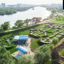 Асфальтовый памп трек в Марьино около Москвы-реки от FK-ramps