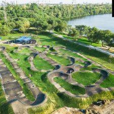 Памп трек в Марьино, в парке 850-летия Москвы - FK-ramps